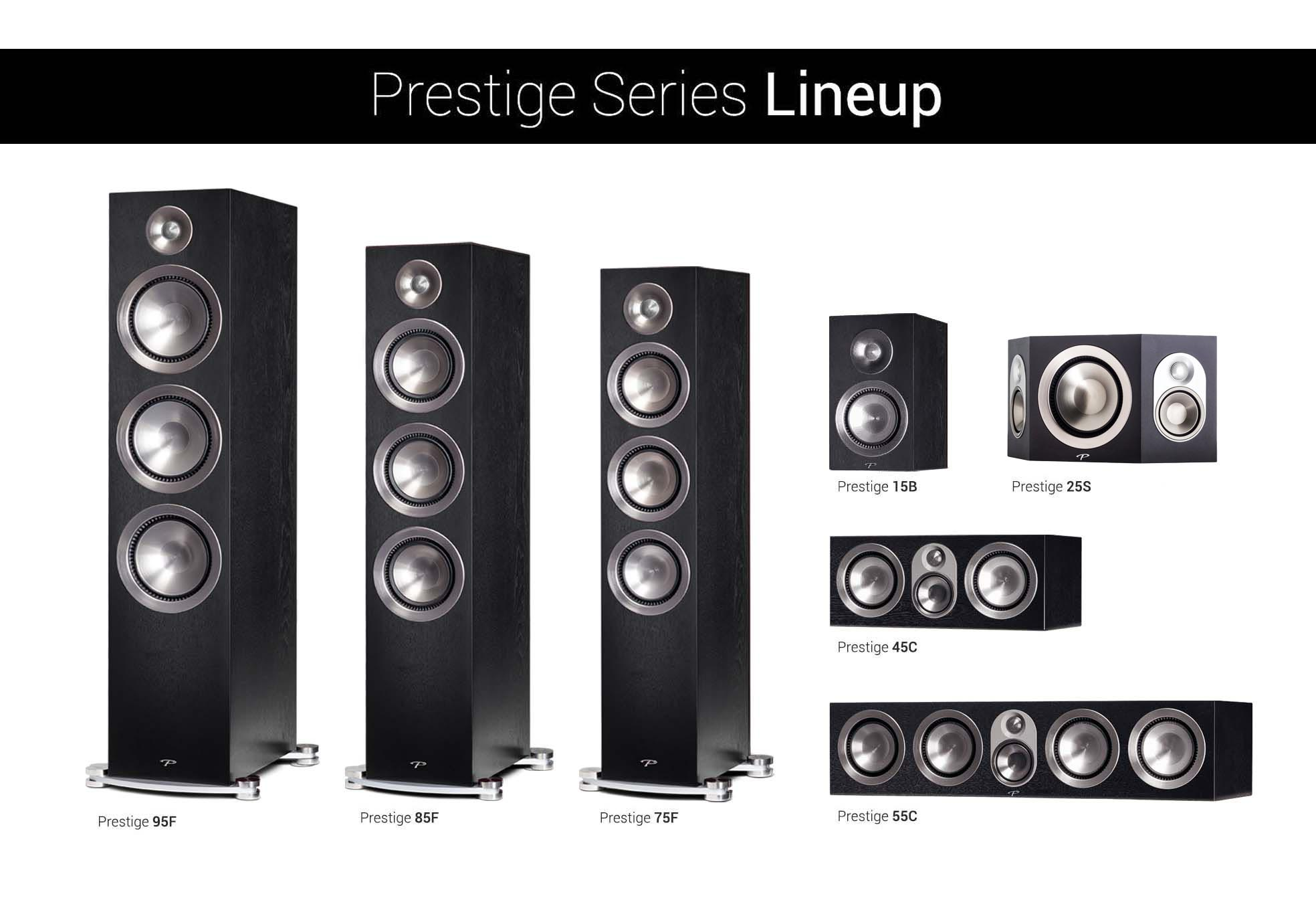 Prestige Black walnut Lineup with Black 25s