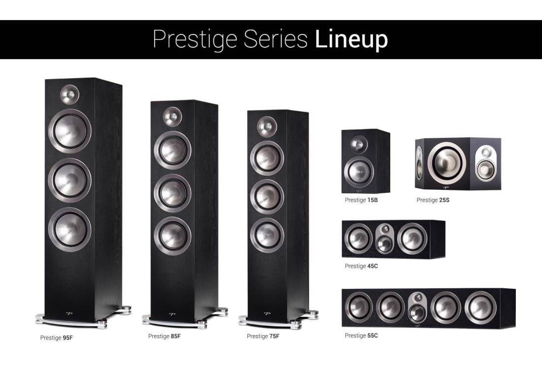Prestige Black walnut Lineup with Black 25s