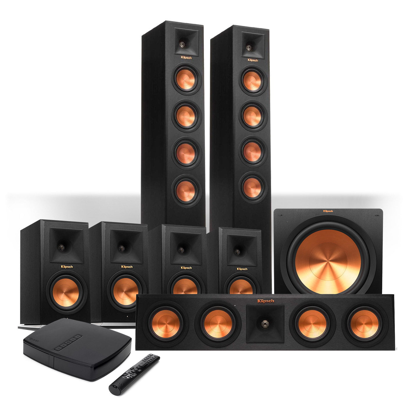 klipsch reference premiere hd wireless 7 1 floorstanding. Black Bedroom Furniture Sets. Home Design Ideas