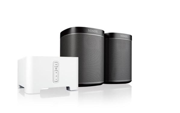 Sonos Play:1 2 Room Music System + CONNECT - Black Bundle