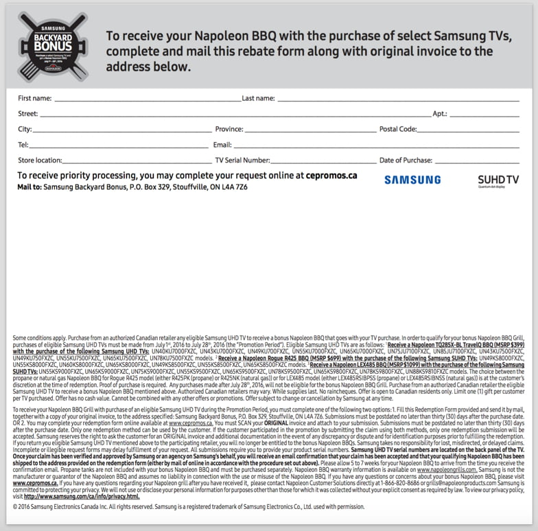 samsung bbq coupon