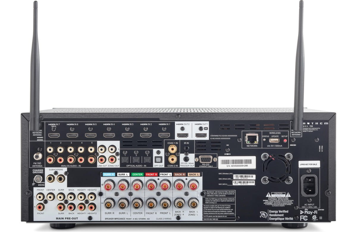 Anthem MRX 720 7 2 - Channel Home Theater Receiver