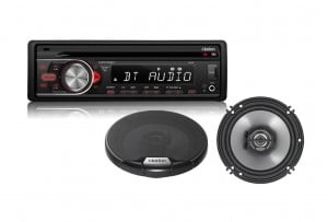 Clarion CZ105BT CD Receiver and Clarion SRG1623R 2-way Coaxial Car Speaker Kit - Bundle