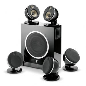 Focal Dome 5.1 and Sub Air Flax Theater System black