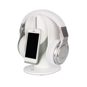 Heads Up 1011 White Headphone Stand 1