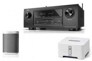 "Denon AVR-S720W 7.2 Ch 4K Ultra HD AV Receiver ""B-Stock"" w/ Sonos CONNECT CTNZPCA1 Wireless Adapter w/ Sonos PLAY:1 Compact Wireless Speaker - Bundle"