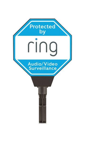 Ring Solar Power Illuminated Security Yard Sign
