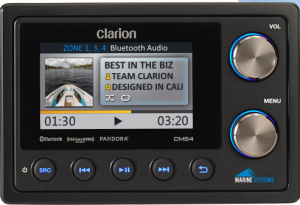 Clarion CMS4 Marine Digital Media Receiver with Watertight Commander