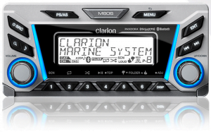 Clarion M606 Marine Digital Media Receiver with Built-In Bluetooth