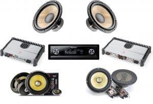 Pioneer DEX-P99RS In-Dash CD Receiver/Focal Amplifiers/Speakers Car Audio System