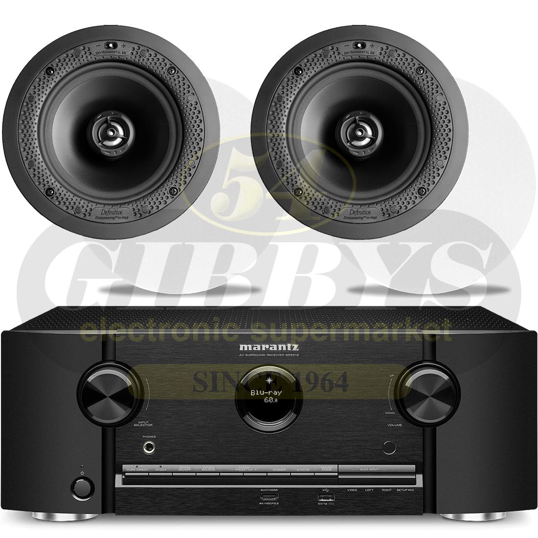 Marantz SR5012 7 2 Receiver B-Stock | Definitive Technology DI 6 5R  In-Ceiling Speakers – Pair – Bundle