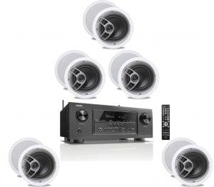 Denon AVR-S920W 7.2 4K Receiver - B-Stock w/ Polk Audio MC60 6-1/2″ In-Ceiling Speakers x5 – Bundle