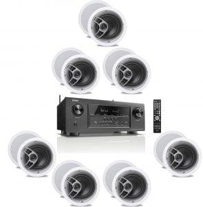 Denon AVR-S920W 7.2 4K Receiver - B-Stock w/ Polk Audio MC60 6-1/2″ In-Ceiling Speakers x7 – Bundle