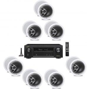 Denon AVR-X1300W 7.2 Receiver – B-Stock w/ Polk Audio MC60 6-1/2″ In-Ceiling Speakers x7 – Bundle