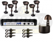 Paradigm Garden Oasis GO10SW Subwoofer w/ GO4 Satellite Speakers x 6 and Crown CDI 1000 Amp – Bundle