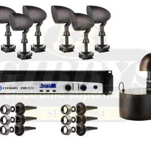 Paradigm Garden Oasis GO10SW Subwoofer w/ GO6 Satellite Speakers x 6 and Crown CDI 1000 Amp – Bundle