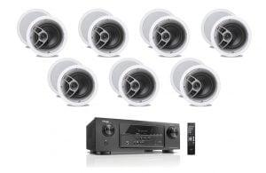 Denon AVR-S510BT 5.2 Receiver - B-Stock w/ Polk Audio MC60 6-1/2″ In-Ceiling Speakers x7 - Bundle