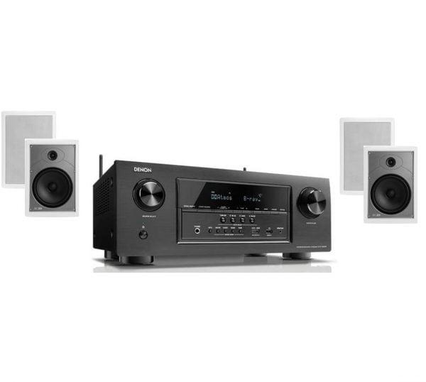 Denon AVR-S920W 7.2 B-Stock Receiver w/ Polk Audio MC85 High Performance Rectangular In-Wall Speakers x2 – Bundle