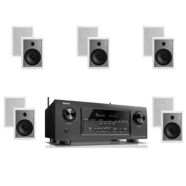 Denon AVR-S920W 7.2 B-Stock Receiver w/ Polk Audio MC85 High Performance Rectangular In-Wall Speakers x5 – Bundle