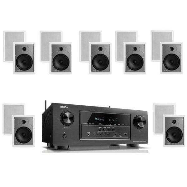 Denon AVR-S920W 7.2 B-Stock Receiver w/ Polk Audio MC85 High Performance Rectangular In-Wall Speakers x7 – Bundle
