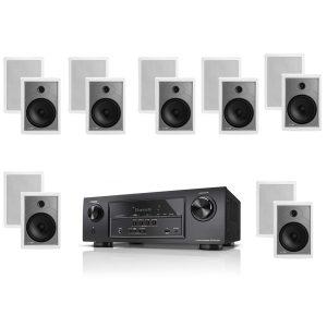 "Denon AVR-S510BT 5.2 Channel Full 4K Ultra HD A/V ""B-Stock"" Receiver w/ Polk Audio MC85 High Performance Rectangular In-Wall Speakers x7 – Bundle"