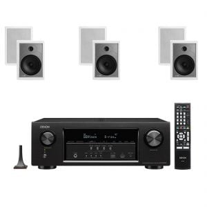 Denon AVR-S720W 7.2ch B Stock Receiver w/ Polk Audio MC85 High Performance Rectangular In-Wall Speakers x3 – Bundle