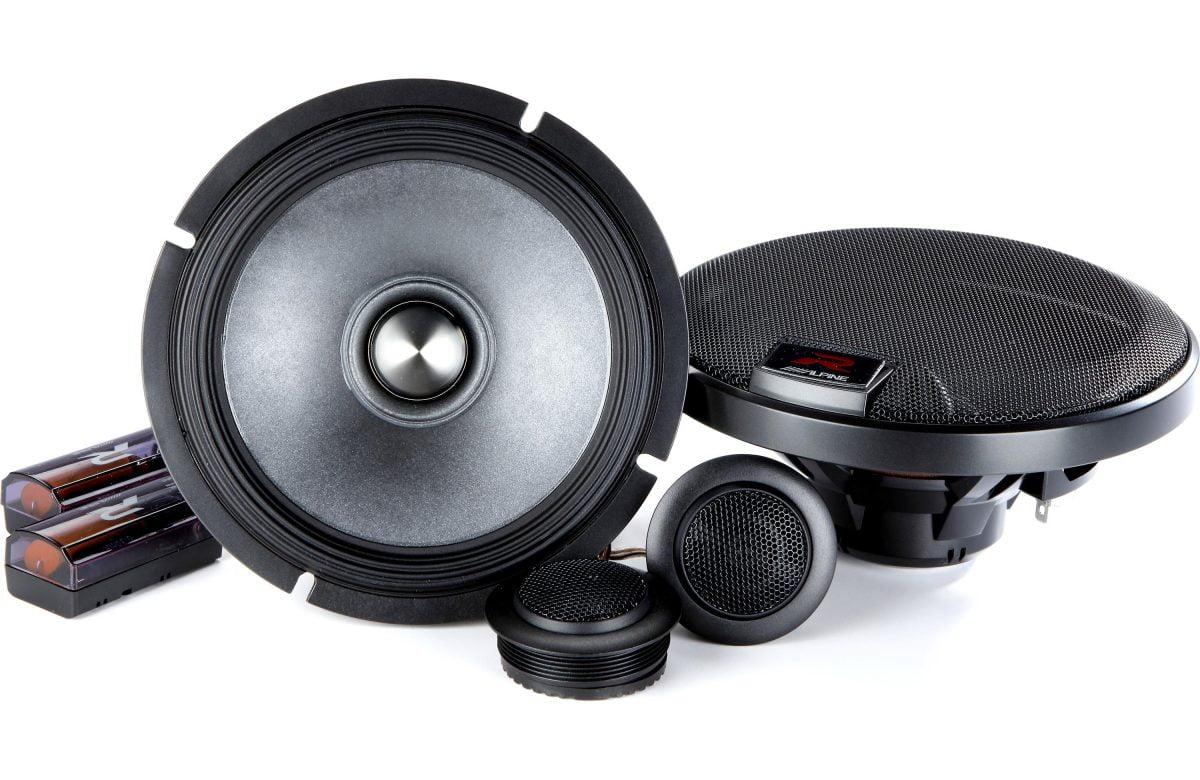 Alpine r s65c r series 6 5 component 2 way speaker system for Woofer speaker system