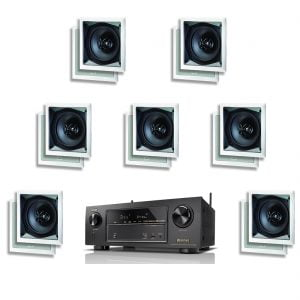 Denon AVR-X1300W 7.2 Channel B Stock Network Receiver w/ Paradigm CS-60SQ-SM v2 In-Wall Speakers x7 - Bundle