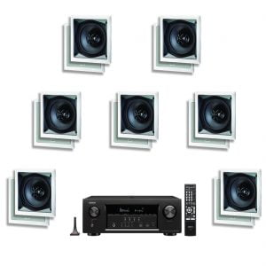 Denon AVR-S720W 7.2 Channel B Stock AV Receiver w/ Paradigm CS-60SQ-SM v2 In-Wall Speakers x7 - Bundle