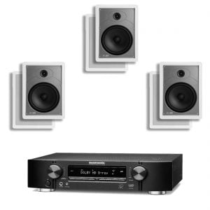Marantz NR1506 B Stock 9.2 Receiver w/ Polk Audio MC85 In-Wall Speakers x3 - Bundle