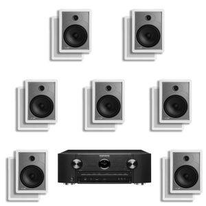 Marantz SR6011 9.2 Channel B Stock Network AV Receiver w/ Polk Audio MC85 In-Wall Speakers x7 – Bundle