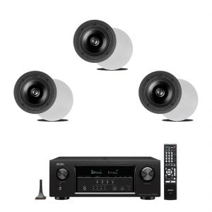 Denon AVR-S720W 7.2 4K B Stock Receiver w/ Definitive Technology DI 6.5R In-Wall Speakers x3 - Bundle