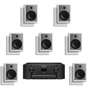 Marantz SR5011 7.2 B Stock AV Receiver w/ Polk Audio MC85 In-Wall Speakers x7 – Bundle