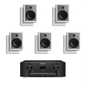 Marantz SR5011 7.2 B Stock AV Receiver w/ Polk Audio MC85 In-Wall Speakers x5 – Bundle