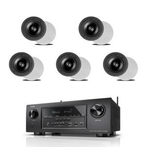 Denon AVR-S920W 7.2 B-Stock Receiver w/ Definitive Technology DI 6.5R In-Wall Speakers x5 - Bundle