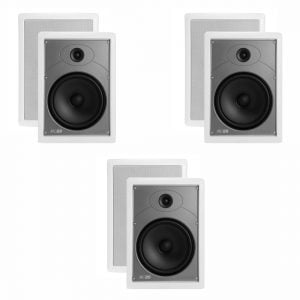 "Polk Audio MC85 High Performance 8 1/2"" Rectangular In-Wall Speakers x3"