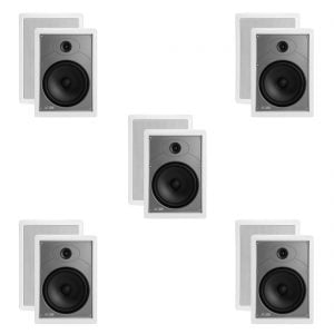 "Polk Audio MC85 High Performance 8 1/2"" Rectangular In-Wall Speakers x5"