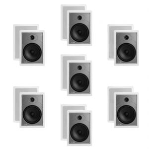 "Polk Audio MC85 High Performance 8 1/2"" Rectangular In-Wall Speakers x7"
