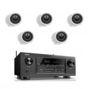Denon AVR-S920W 7.2 B-Stock Receiver w/ Polk Audio MC80 High Performance 8 1/2″ Round In-Ceiling Speakers X5- Bundle