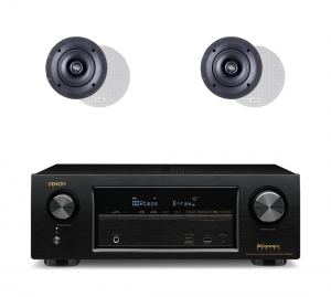 Denon AVR-X1300W 7.2 In-Command B-Stock Receiver w/ Paradigm CS-50R v3 Classic Collection In-Ceiling Speakers x2 – Bundle