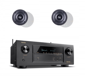Denon AVR-X2300W 7.2 Ch Full 4K B-Stock AV Receiver w/ Paradigm CS-50R v3 Classic Collection In-Ceiling Speakers x2 – Bundle