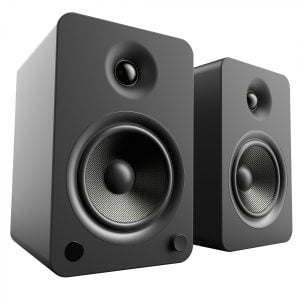 Kanto YU6MB Powered Speakers with Bluetooth and Phono Preamp - Matte Black - Pair