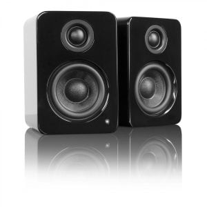 Kanto YU2GB Powered Desktop Speakers - Gloss Black - Pair