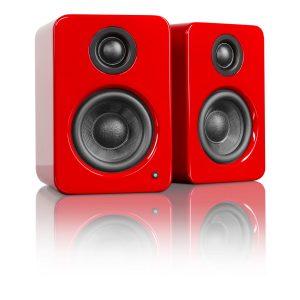 Kanto YU2GR Powered Desktop Speakers - Gloss Red - Pair