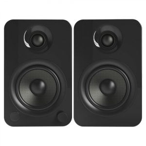 Kanto YU4GB Powered Speakers with Bluetooth and Phono Preamp - Gloss Black - Pair