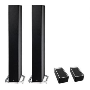 Definitive Technology BP-9060 High-performance Bipolar Tower Speaker x2 w/ A90 High-Performance Height Speaker Module - Pair - Bundle