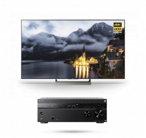 Sony XBR55X900E 55″ LED 4K Ultra HD HDR 2160p Smart TV w/ STR-ZA810ES 7.2 ch Hi-RES Wi-Fi Network AV Receiver - Bundle
