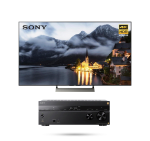 "Sony XBR75X900E 75"" LED 4K Ultra HD HDR 2160p Smart TV w/ STR-ZA810ES 7.2 ch Hi-RES Wi-Fi Network AV Receiver - Bundle"