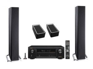 Definitive Technology BP9040 Tower Speakers x2 – A90 Speaker Module - Pair – Denon AVR-X1400H 7.2 In-Command Receiver - Bundle