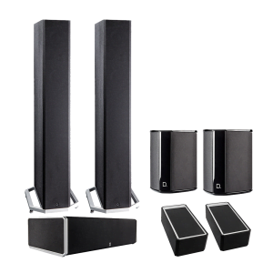 Definitive Technology BP-9040 Tower Speakers x2 - CS9060 Center Channel Speaker - SR-9040 Surround Speakers x2 - A90 Speaker Module – Pair - Bundle
